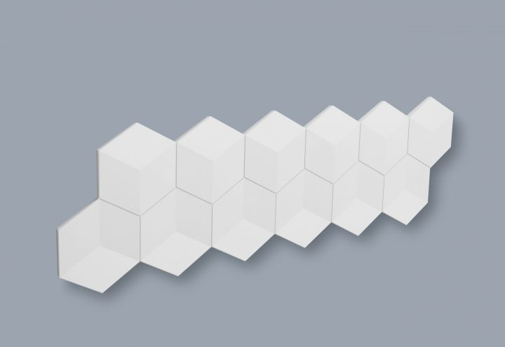 Dekorplate Wallpanels Arstyl Cube fra Deco Systems